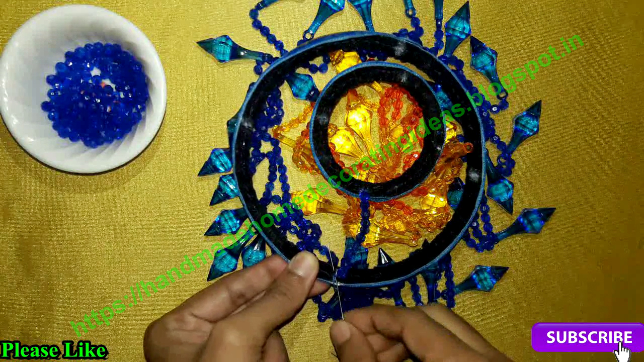 Home Decorating Ideas: How To Make Jhumar At Home   Beaded ...