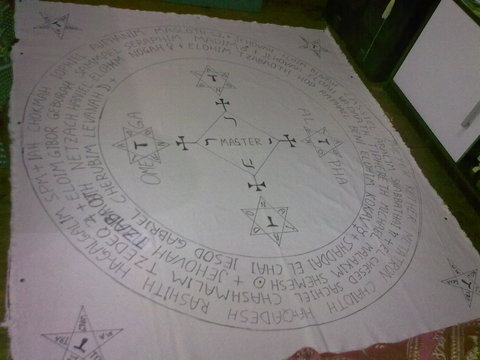 My Goetia Circle - Initial draft ready to paint