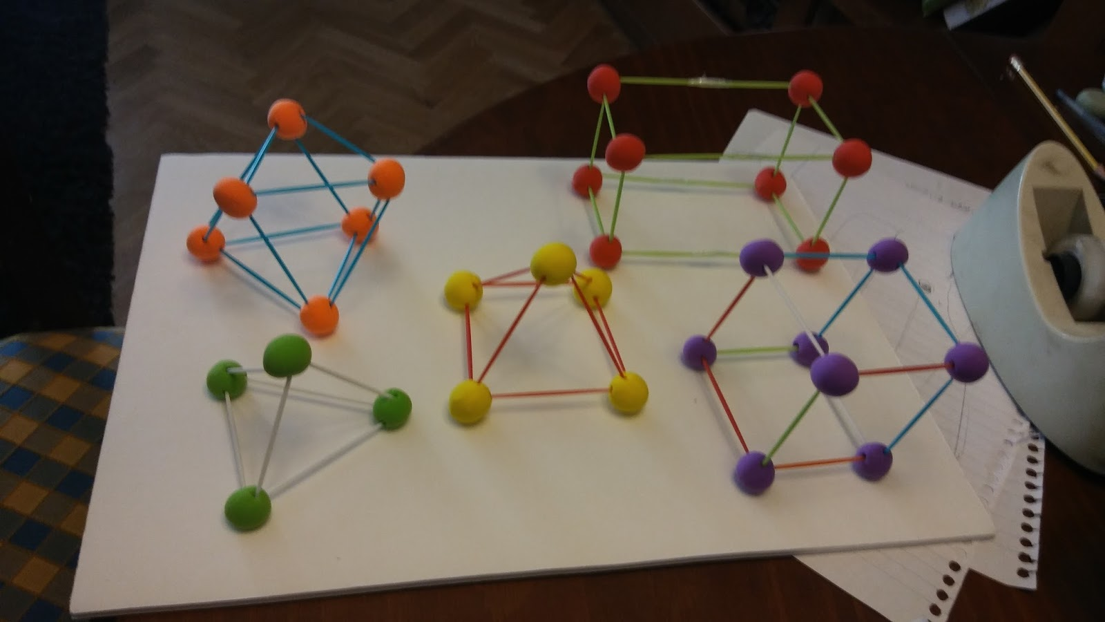 Erasmus Magnemathicts Geometric Figures With Toothpicks