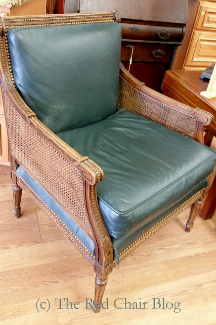 Cane chair from the Plaza hotel sold at Habitat for Humanity Restore at The Red Chair Blog