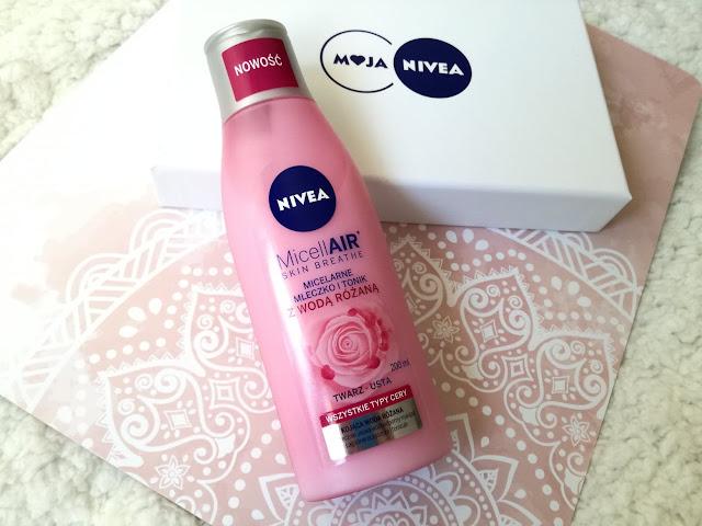 Micelarne mleczko i tonik z wodą różaną nivea