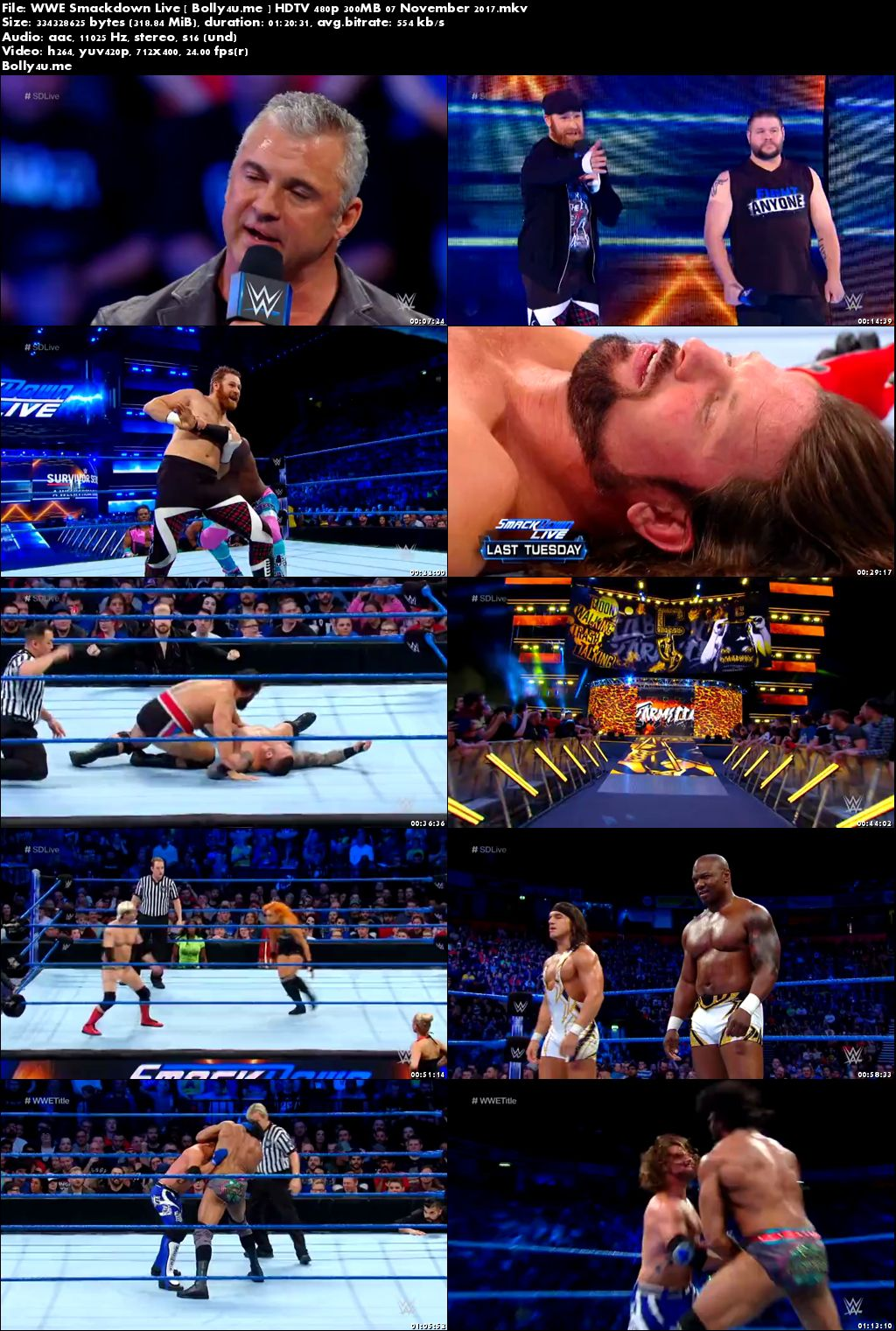 WWE Smackdown Live HDTV 480p 300MB 07 November 2017