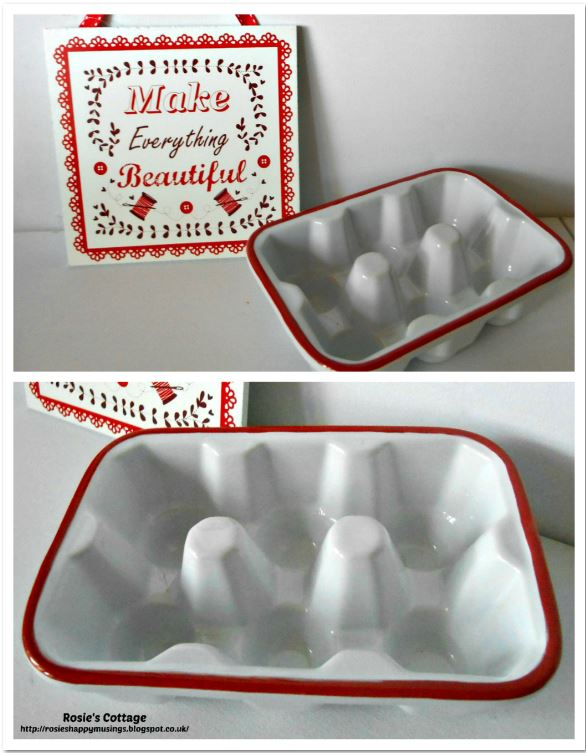Ceramic egg carton