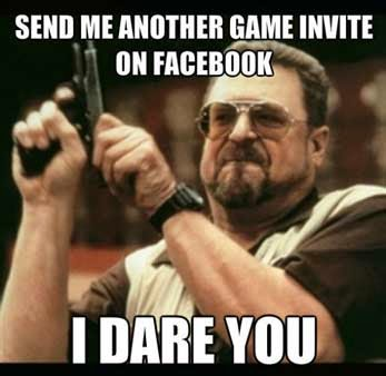 stop invite game, game Facebook