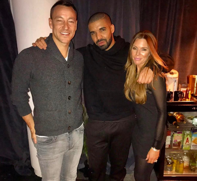 Drake hangs out with Chelsea captain John Terry and wife