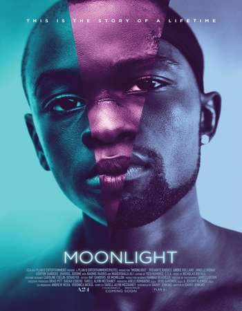 Poster Of English Movie Moonlight 2016 Full HDCam Movie Free Download Watch Online