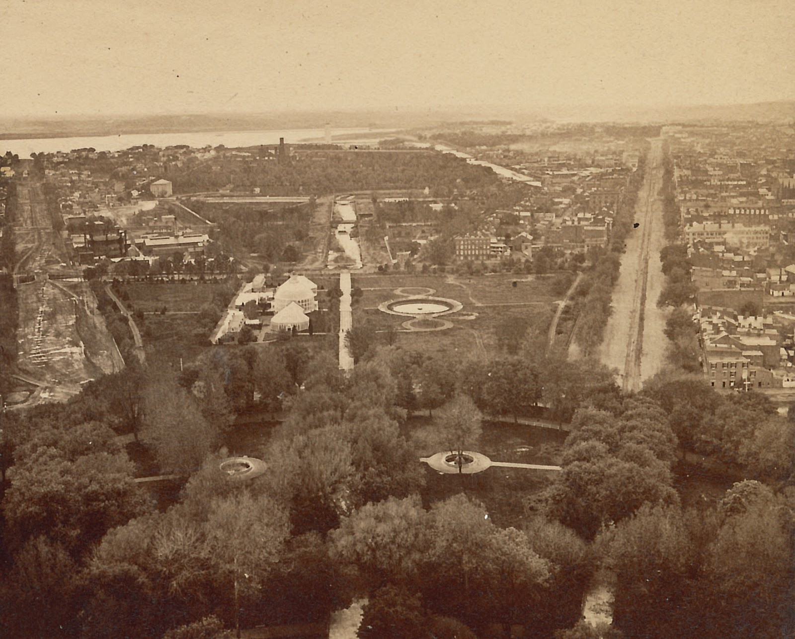 View of the Mall in 1870