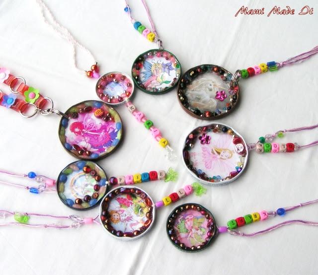 Halsketten aus Gläserdeckel