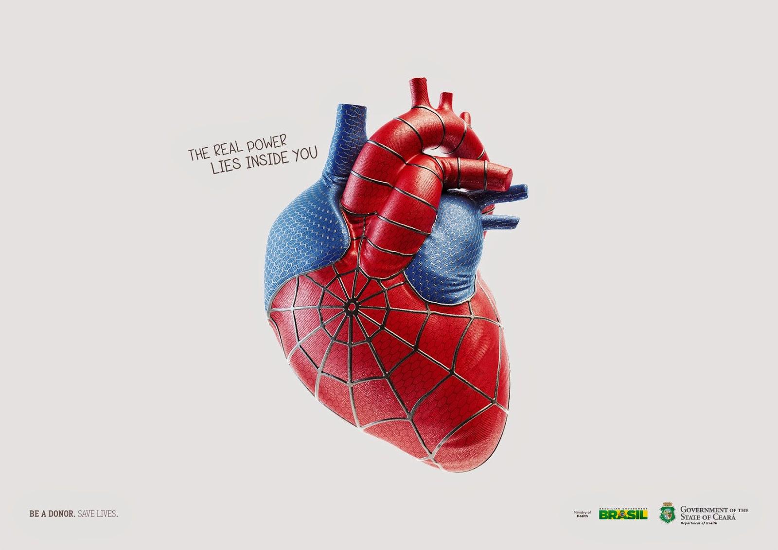 Corazón contraje de spider-man