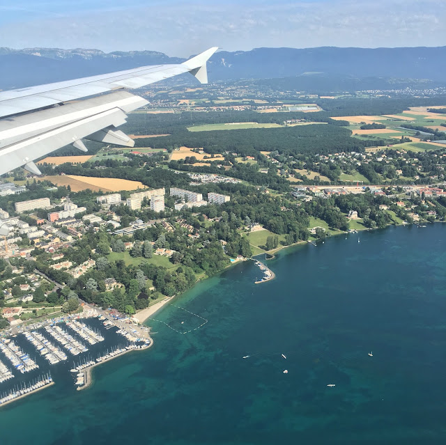 Flying over Lac Léman, Switzerland