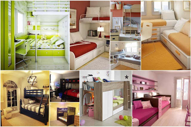 Kids Bedrooms With Two Beds For Small Spaces