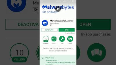 Android Kena Virus Iklan, Malwarebytes
