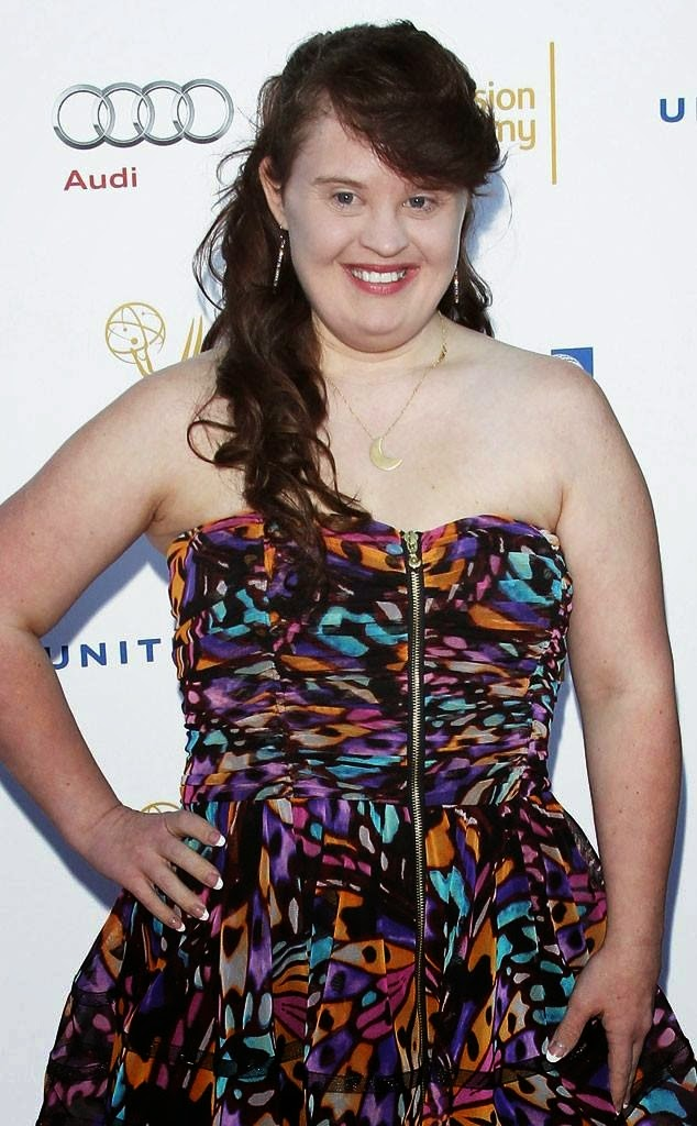 Jamie Brewer - The FIRST woman with Downs Syndrome to walk the New York Fashion Week catwalk!