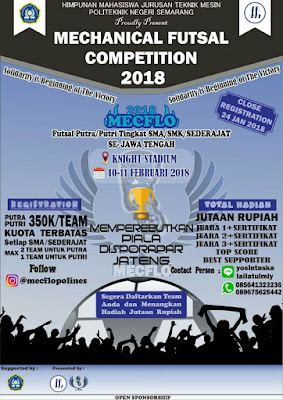 Lomba Futsal MECHANICAL FUTSAL COMPETITION 2018