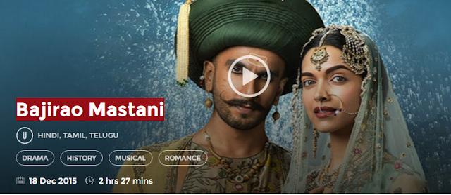 Bajirao Mastani (2015) Full DvDRip Hindi Movie Free Download