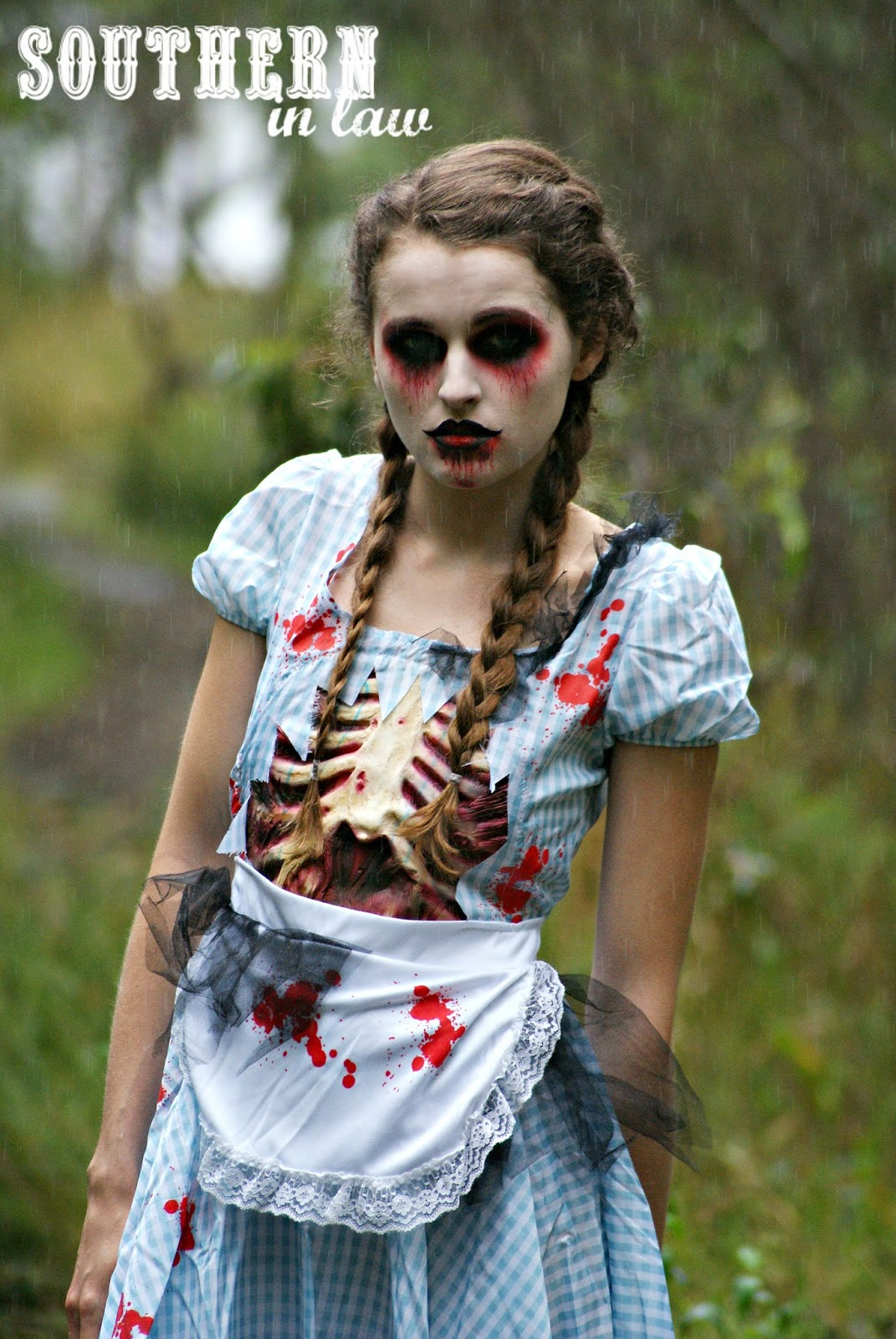 Southern In Law: Step by Step Halloween Zombie Look Tutorial
