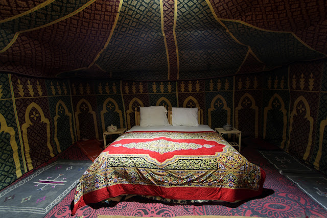 Jaima en el desierto del Sahara de Marruecos