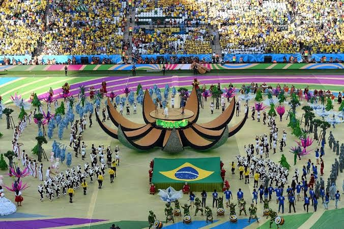 photos from the opening ceremony of the 2014 world cup in