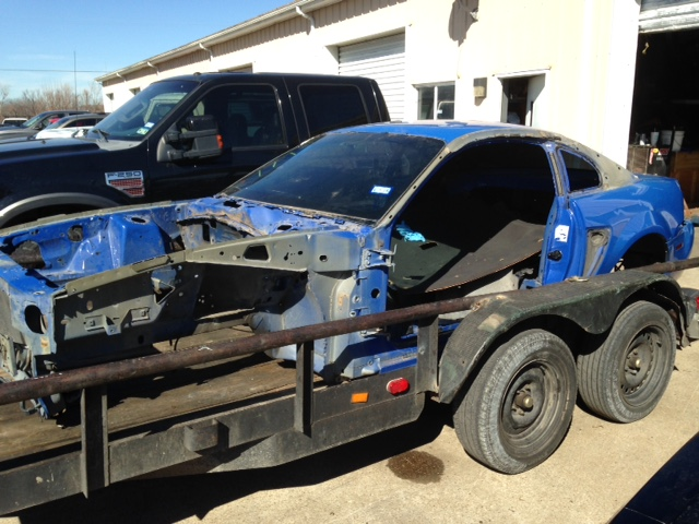 Whiteboy's Mustangs 2003 Mustang Azure Blue Mach 1 Parts Car