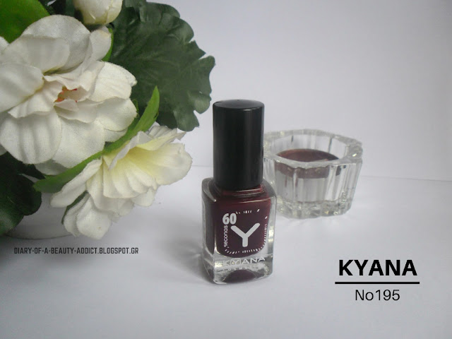KYANA Nail Polish No195: Review, Swatch, Nail Art