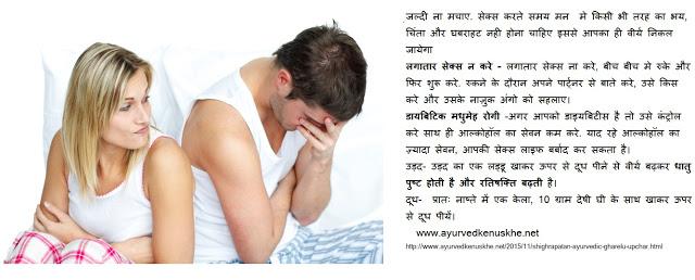Shighrapatan Treatment Hindi
