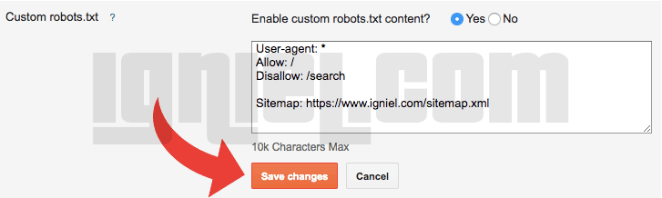 Pengaturan robots.txt di Blogger Agar Artikel Cepat Terindex