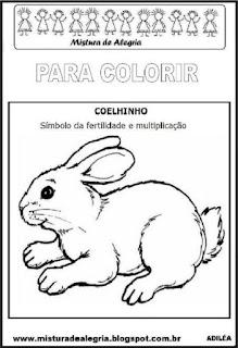 Desenho de coelho da páscoa