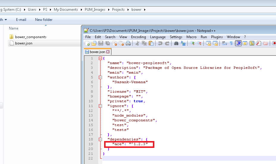 Sasank's PeopleSoft Log: Using Bower to manage javascript packages