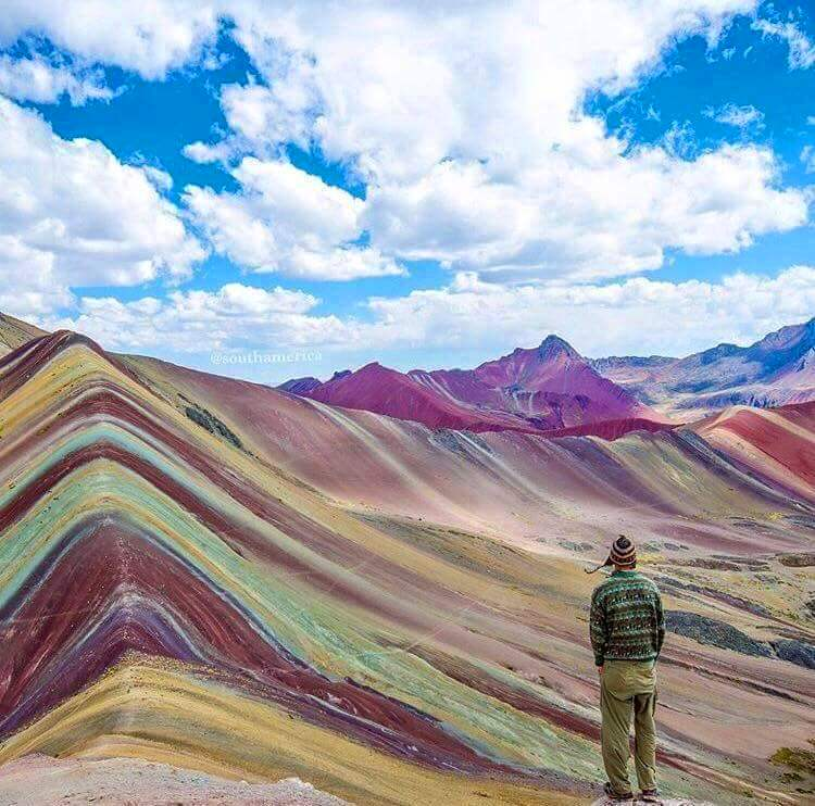 The Rainbow Mountains In Peru Very Amazing