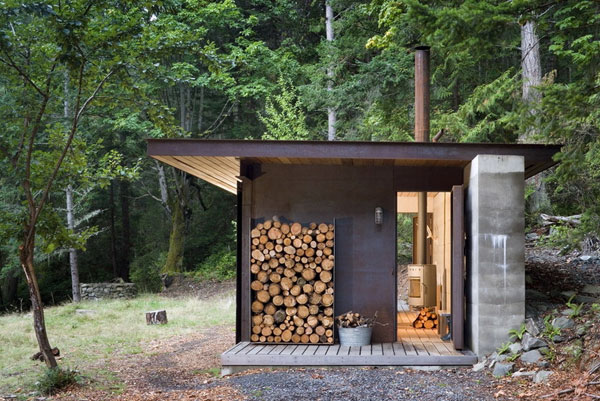 Small One Room House Located In The Woods Modern House Plans