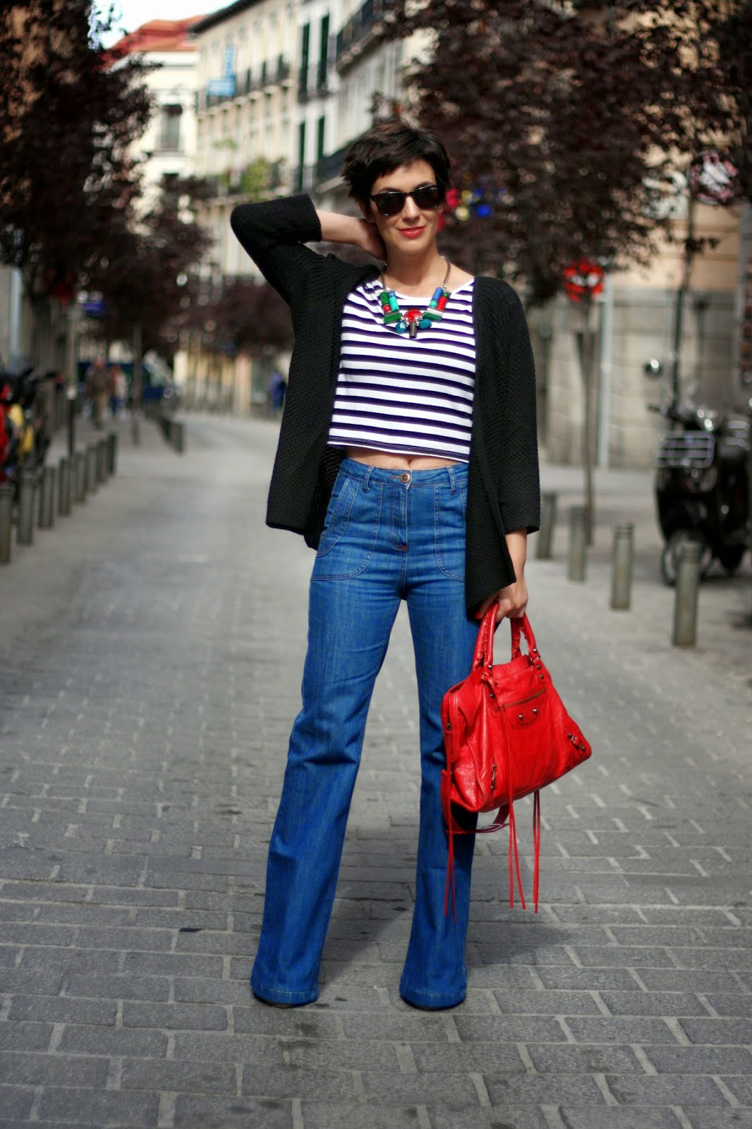 Ohmylook Flared Jeans Outfit Con Pantalon Campana Y Crop Top Oh My Blog