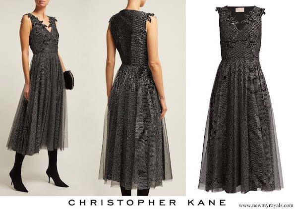 Princess Marie wore CHRISTOPHER KANE Metallic tulle midi dress