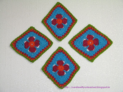 Crochet diamond motif2