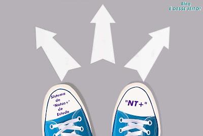 """Imagem de Pés tomando a decisão de seguir à CRISTO, anunciando o início do Sistema de """"Notas+"""" de Estudo, """"NT+"""""""