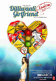 Prachi Mishra along a pole in poster of Bollywood movie Dilliwaali Zaalim Girlfriend
