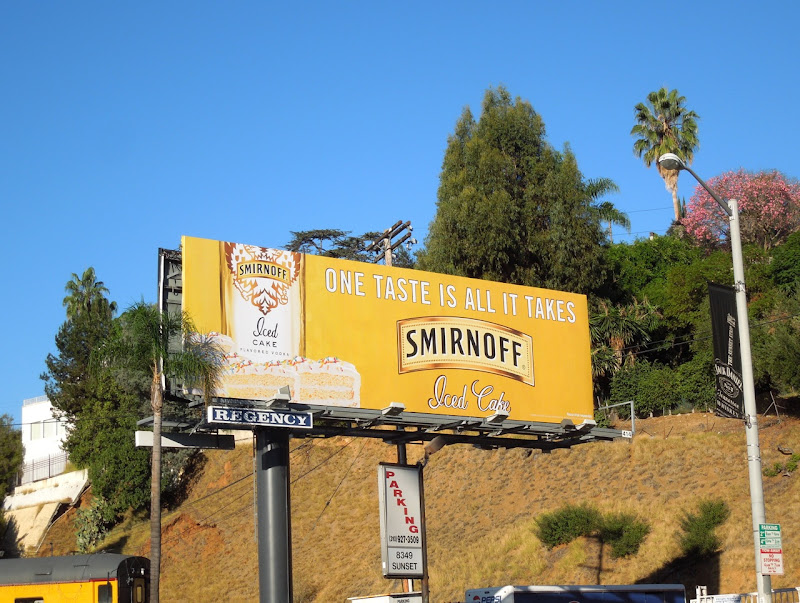 Smirnoff Iced Cake vodka billboard