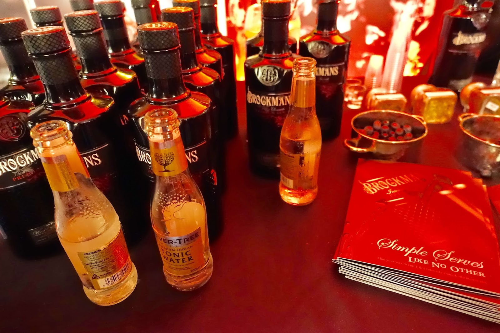 Brockmans gin at gin festival in Guildford