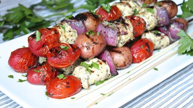 GRILLED CHICKEN PESTO POTATO SALAD (KABOBS) | In Good Flavor | Great ...