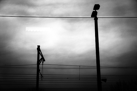 black and white photography, travel photography, train journey, wires, travelling, contemporary, art, modern, photos,