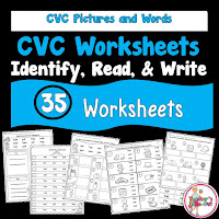 CVC Worksheets to Identify Read and Write