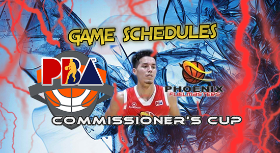 List of Phoenix Fuelmasters Game Schedules 2017 PBA Commissioner's Cup