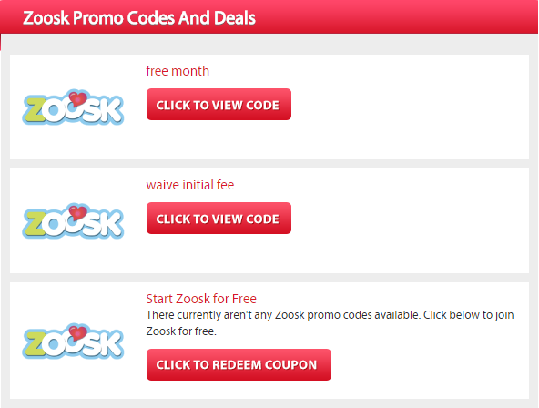 Zoosk Promo Code for Free Trial Month