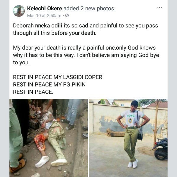 """""""All she was saying was Blood of Jesus until she died""""- Friends, family members mourn Corps member killed by train in Lagos (graphic photos)"""