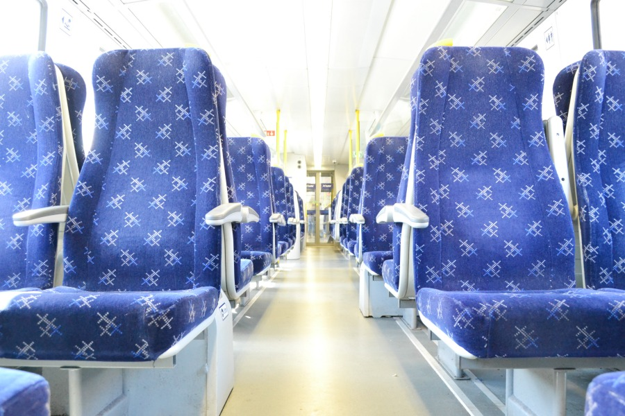 scotrail train interior blue photo an hour may 2016