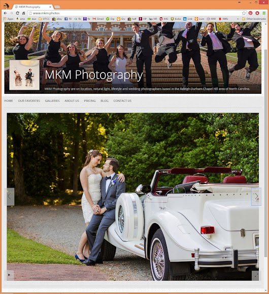 MKM's New Home on the Web! || Raleigh, Durham, Chapel Hill Wedding Photographer
