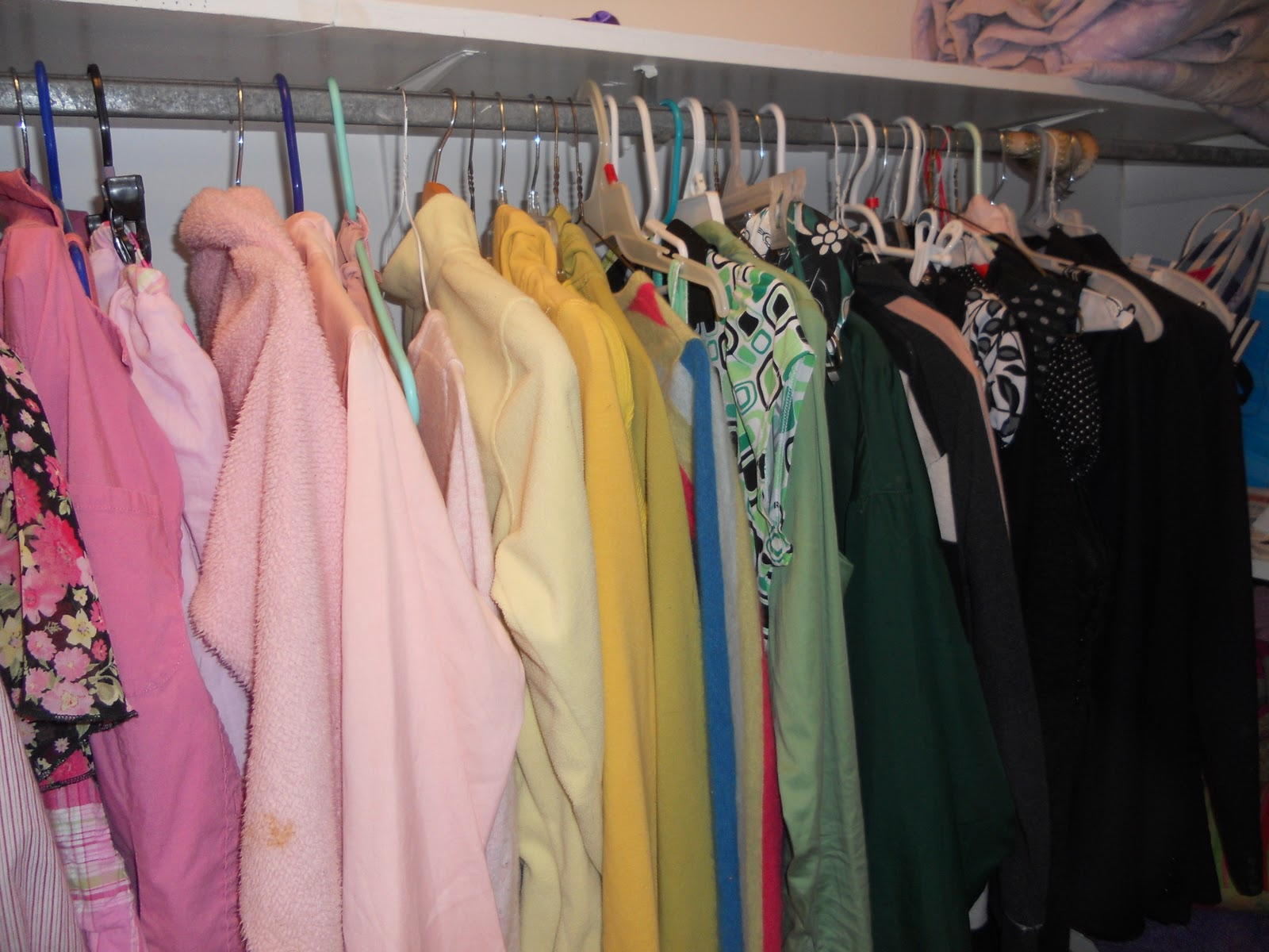 How We Spend Our Days: Color Coordinated Closet