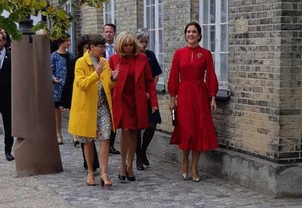 Crown Princess Mary and First Lady Macron visited School of Design on Holmen in Copenhagen