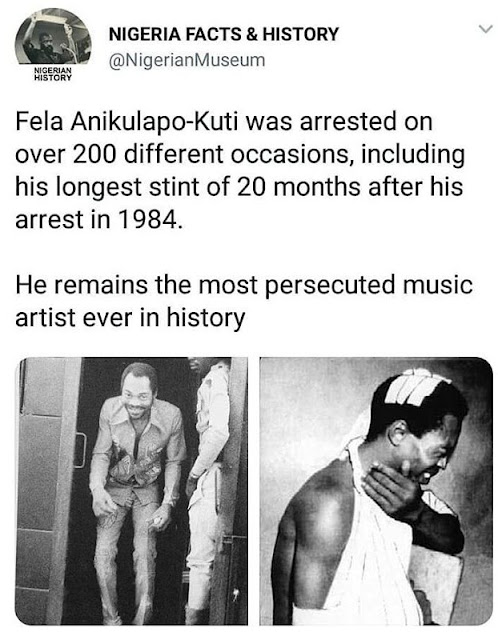 Fela Anikulapo Was Arrested On Over 200 Different Occasions