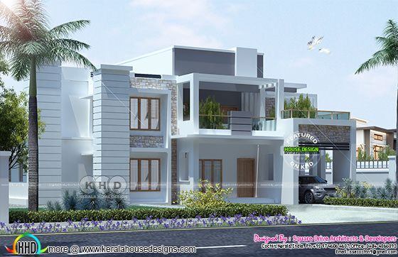 4BHK contemporary villa 2800 sq-ft home