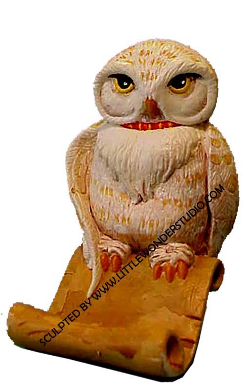 prototype sculpture toy sculpture littlewonder hedwig the owl